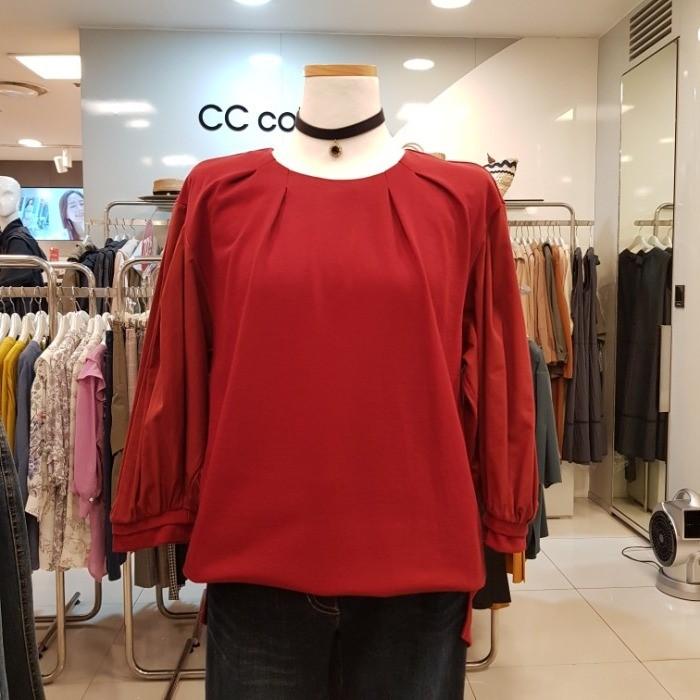 CC collect NC02 블라우스형 티셔츠 C183MSM007 WI