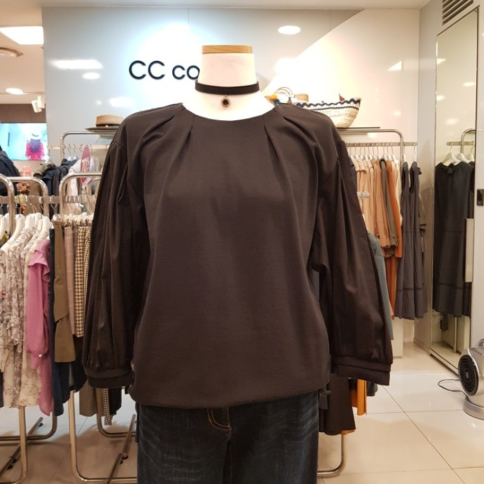 CC collect NC02 블라우스형 티셔츠 C183MSM007 BK