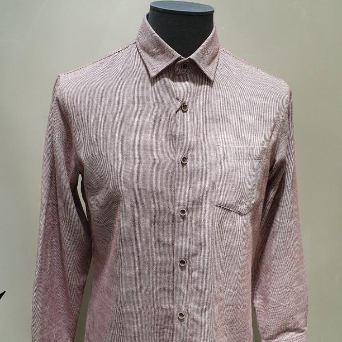 SAP NC08 샙 기모 미니 체크 셔츠 핑크 MNYS19W0111