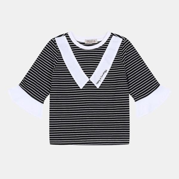 오후 NC08 나팔소매 칠부 티셔츠 OHLA19851