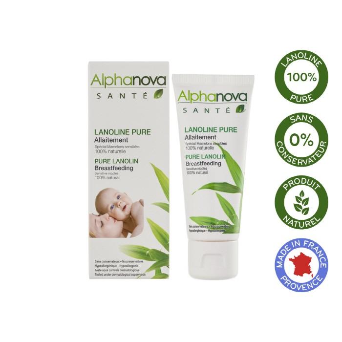 [Alphanova] 알파노바 산테 순수라놀린 아기와 나눠쓰는 민감유두 젖먹이크림40ml
