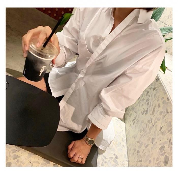 [지에르] 뷔스티에 셔츠 ( 화이트, 블랙 ) 프리사이즈
