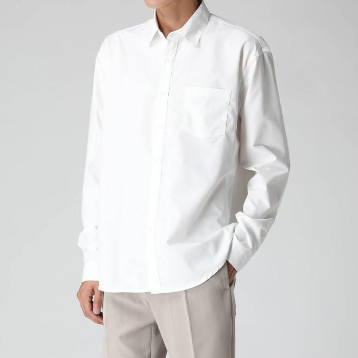 [티아그] [TIAG] 하프 히든 오버 셔츠 (3col)