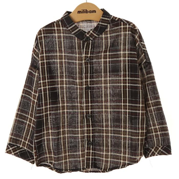 밀리밤 NC02 체크 셔츠, 28 MLYC19T01