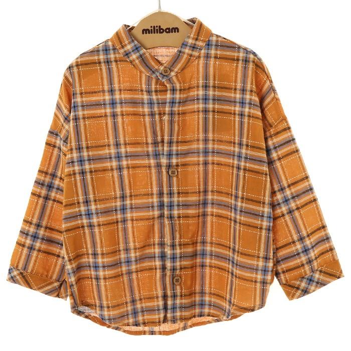 밀리밤 NC02 체크 셔츠, 37 MLYC19T01