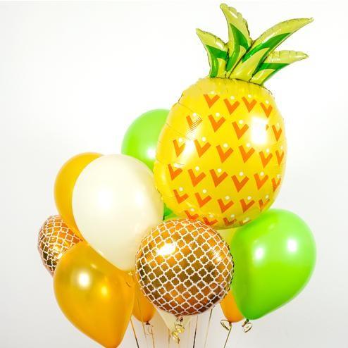 [피우다 (PIUDA)] 상큼톡톡 파인애플 파티 풍선 (과일풍선, 생일파티,이벤트풍선,여름풍선, 여름파티, 여름휴가)