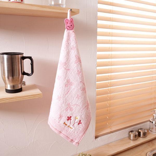 욕실용품 묶음 바른무연사주방타올 핑크