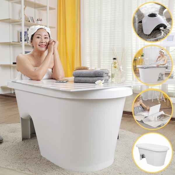 이동식 욕실용품 5종포함 반신욕조 욕조덮개