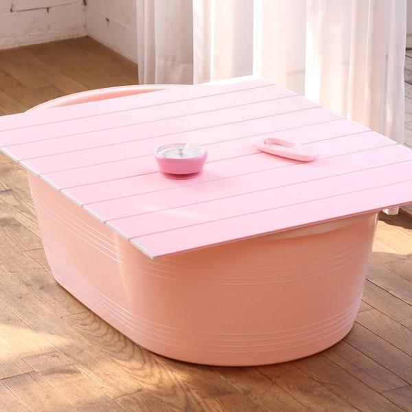핑크 온도계 욕실도기 풀세트 배수구