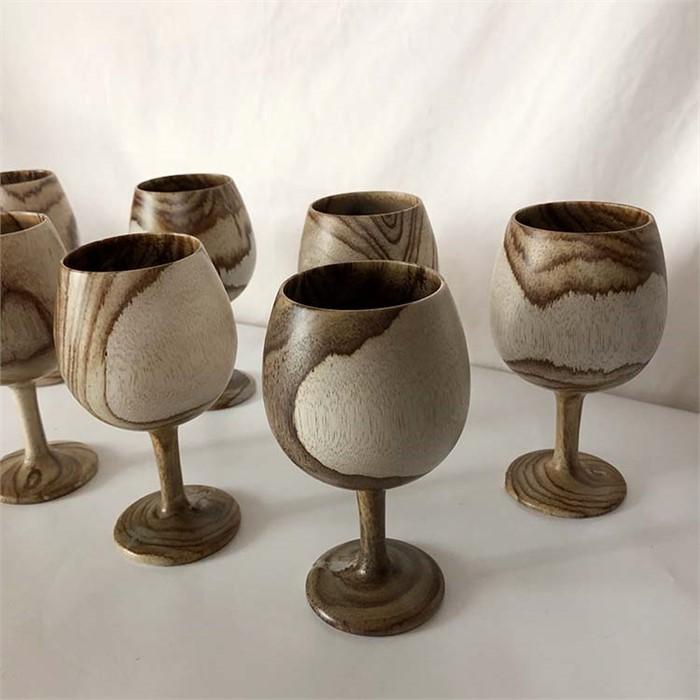 [피우다 (PIUDA)] Olive wood wine cup (올리브 우드컵, 우드 오브제)