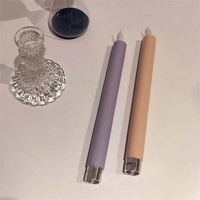 [피우다 (PIUDA)] led 스틱 전자양초 (퍼플,피치)