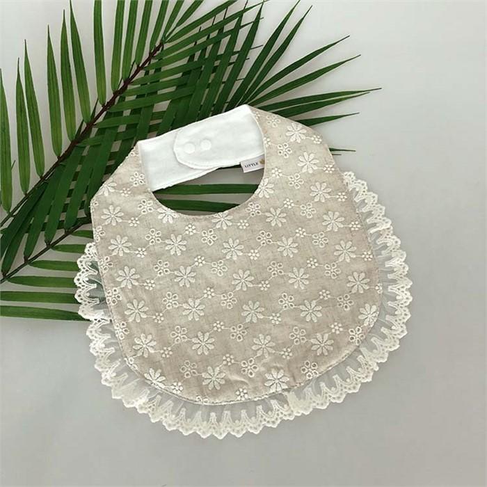 [피우다 (PIUDA)] 패션용 러블리 레이스 턱받이 (아기턱받이, 여자아기 턱받이, 외출용, 애기 턱받이)
