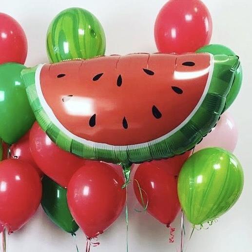 [피우다 (PIUDA)] 시원달달 수박 파티 풍선 (과일풍선, 생일파티,이벤트풍선,여름풍선, 여름파티, 여름휴가)