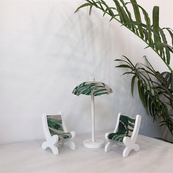 [피우다 (PIUDA)] 야자수 비치 파라솔 SET (여름 파라솔 소품, 비치의자, 여름인테리어 소품)
