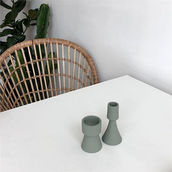 [피우다 (PIUDA)] 쑥라떼 미니촛대 (원형,삼각)