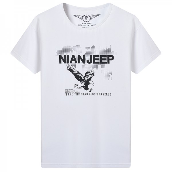지프 쉴드 여름 반소매 T 셔츠