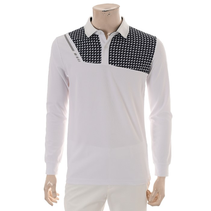 JDX NC02 남성 앞판기하학패턴 티셔츠 X1QFTLM04