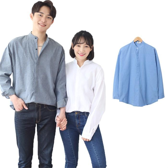 [JFNC] OX 차이나 히든 남녀공용 긴팔셔츠 sh031