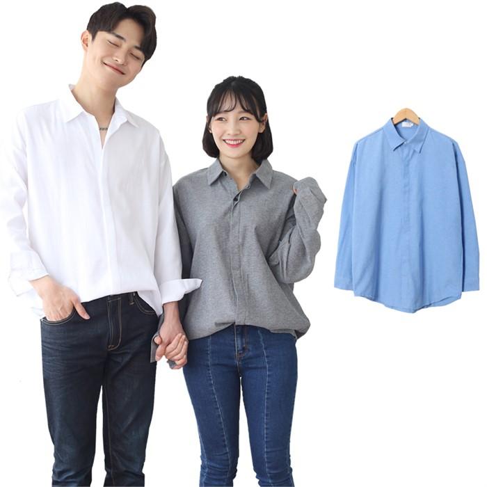 [JFNC] 옥스포드 HD 히든 남녀공용 긴팔셔츠 sh028