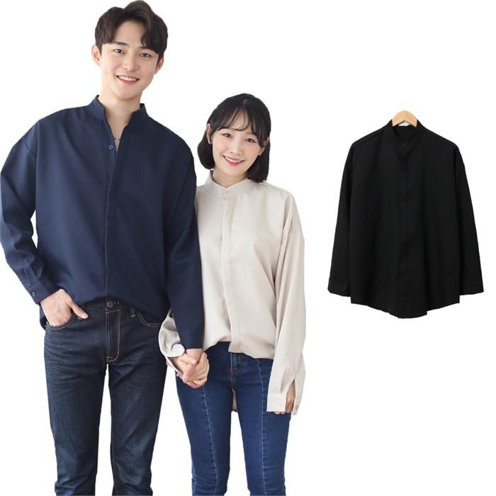 [JFNC] Hidden 차이나 남녀공용 긴팔셔츠 sh027