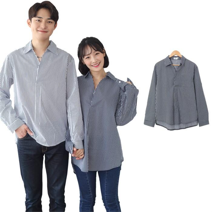 [JFNC] 정해인 SP 오픈카라 남녀공용 긴팔셔츠 sh019