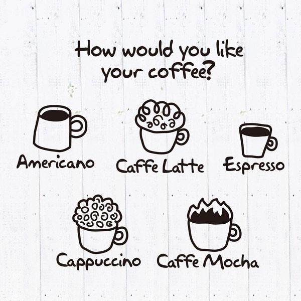 [뭉키데코] 카페스티커_커피아메리카노