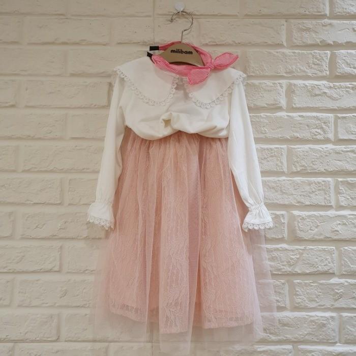 밀리밤 NC05 핑크 레이스 스커트 MLWH19T70