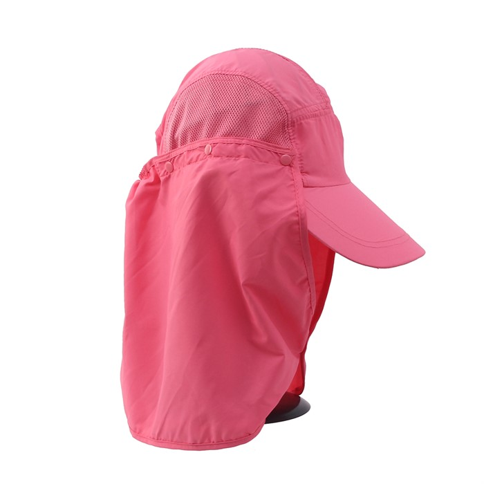 햇빛가리개 플랩 등산모자(핑크)