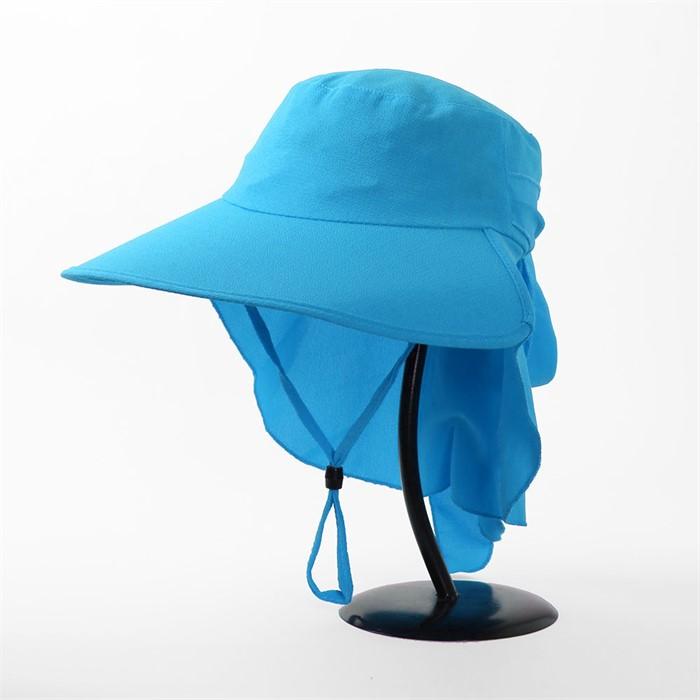 컬러풀 와이드 햇빛가리개 모자(블루)