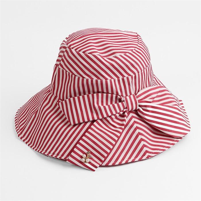 렌시 스트라이프 패션 모자(핑크)