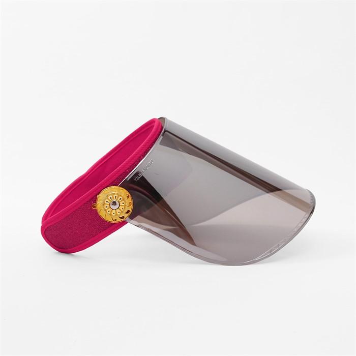 와이드 UV 자외선차단 썬캡(핑크)