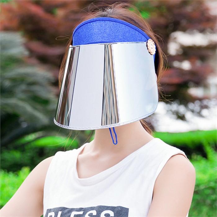 와이드 UV 자외선차단 썬캡(블루)