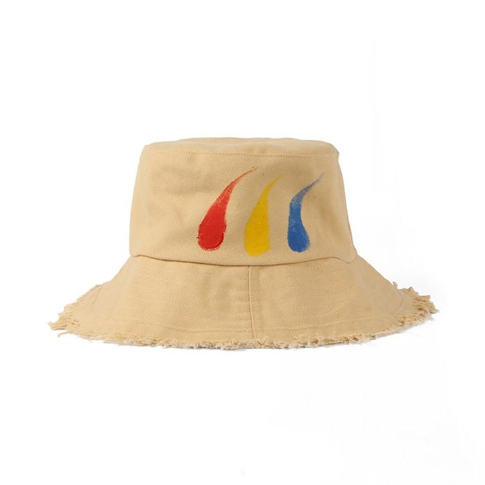 비양 페인트 벙거지 모자(브라운)