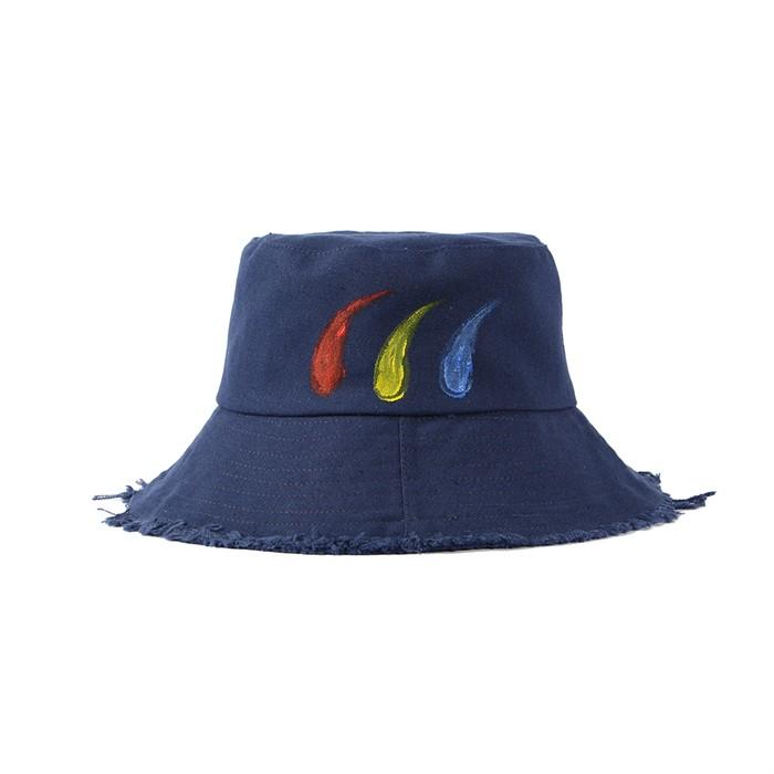 비양 페인트 벙거지 모자(네이비)