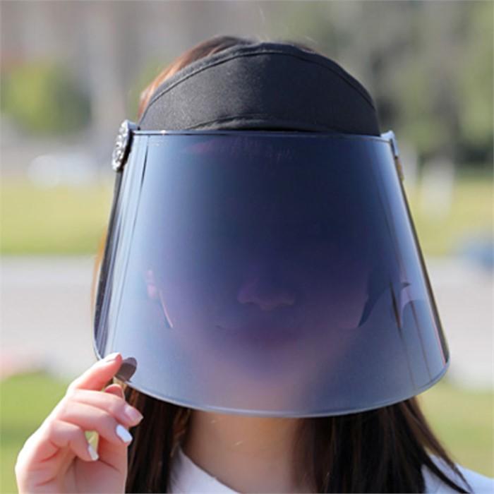 썬스크린 UV차단 썬캡(블랙)