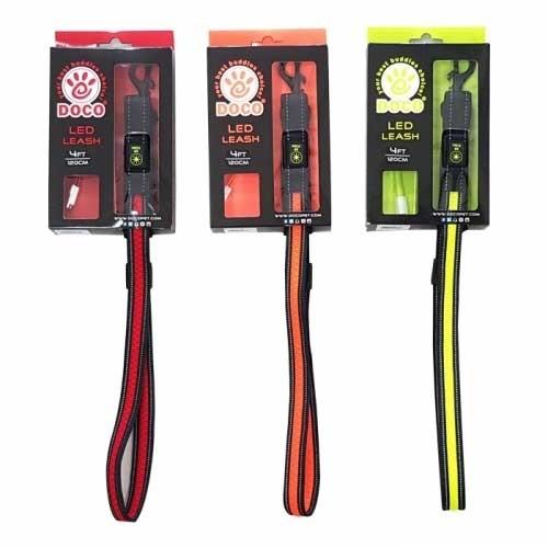 매쉬 리드줄 강아지외출용품 DCLED1048 LED 도코펫