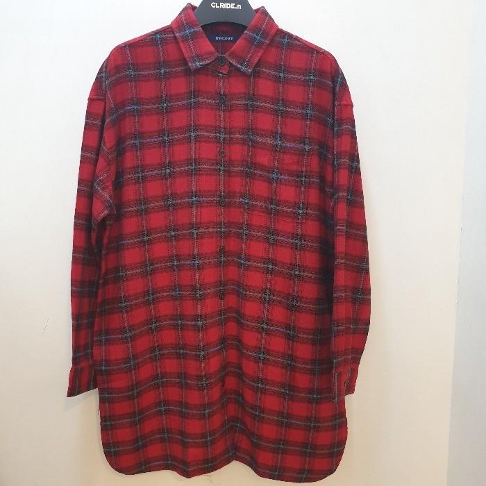 클라이드 NC02 여성롱기장체크셔츠 CHDSH593