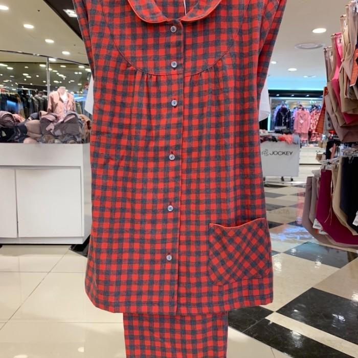 트라이엄프 NC05 사각체크 면기모 여성잠옷 twj7012