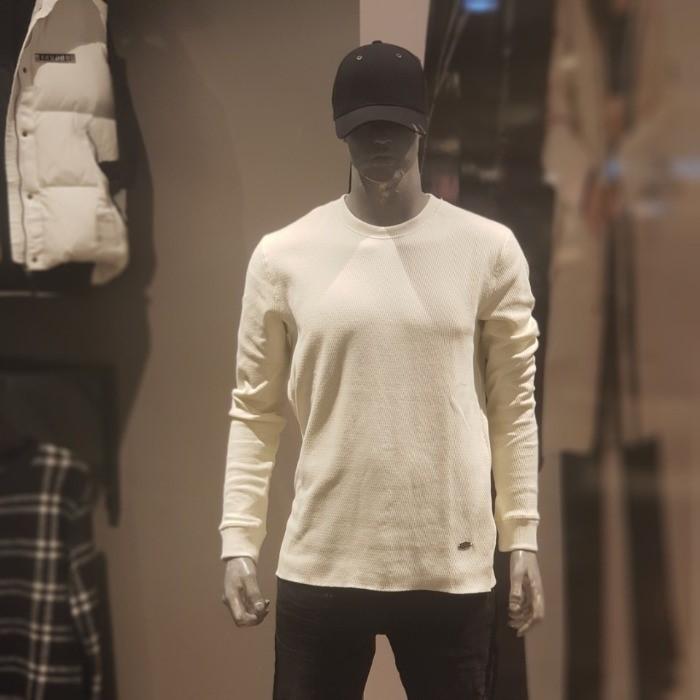 버커루 NC02 남성 이중직 R넥 티셔츠 B185TS300P