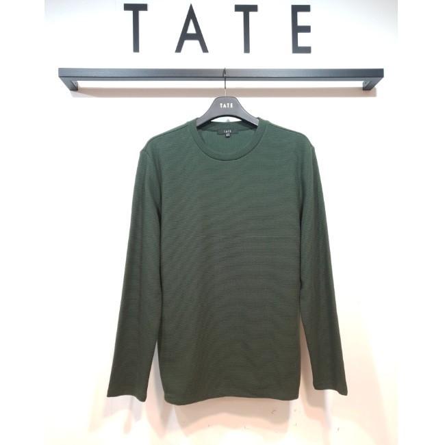 TATE NC02 남성 라운드넥 긴팔 티셔츠 KA9F8-MKL160