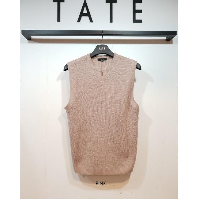 TATE NC02 남성 넥트임 니트 베스트 KA9W9-MSP040