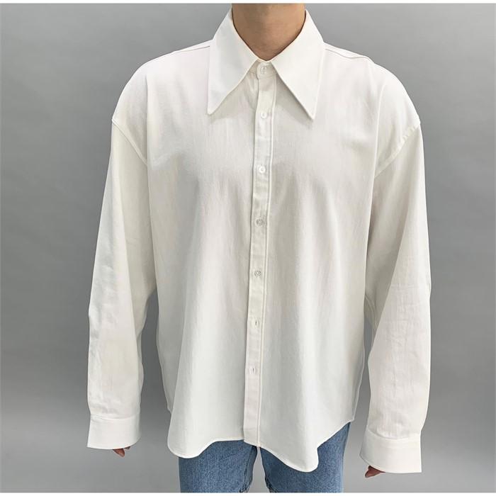 [24.7 JOSEPH] 남성 빅카라 오버핏 옥스포드 긴팔셔츠 남녀공용 루즈핏셔츠