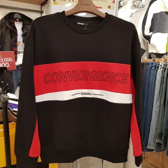 [리트머스, 엠할리데이] NC05 절개 배색 맨투맨 티셔츠 LJ3TU676