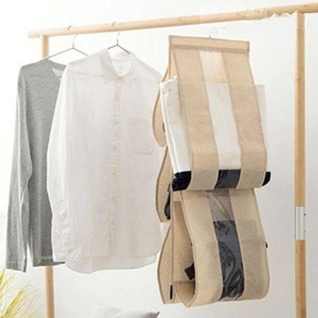 공간활용 가방 수건 상의 소품 수납 정리함 옷걸이형