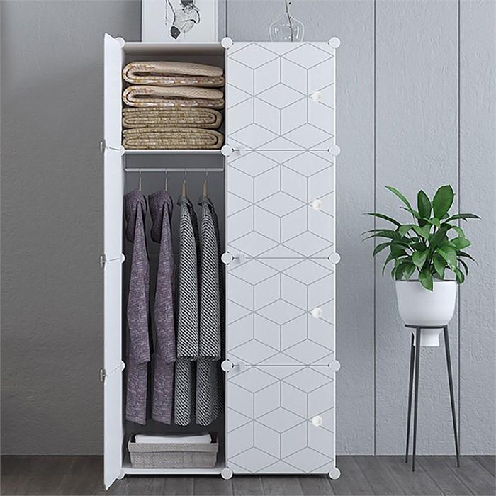 DIY 육각무늬 선반 옷장 75x47x147cm 가벼운옷장