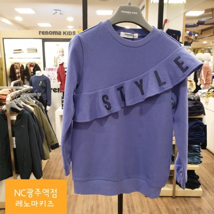 레노마키즈 NC05 여아퍼플롱기장맨투맨 R1912T133