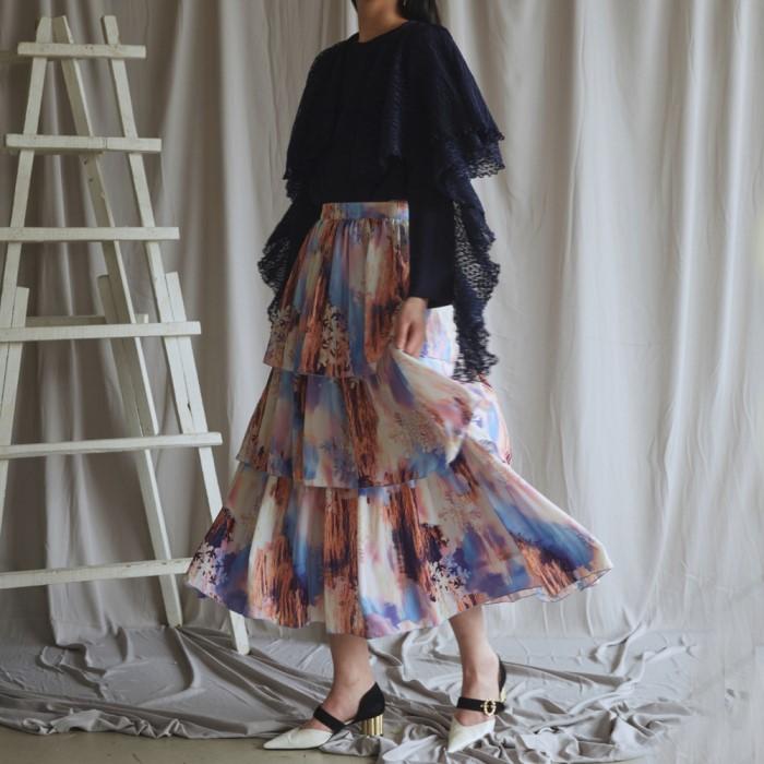 [블리다] sunset cancan skirt