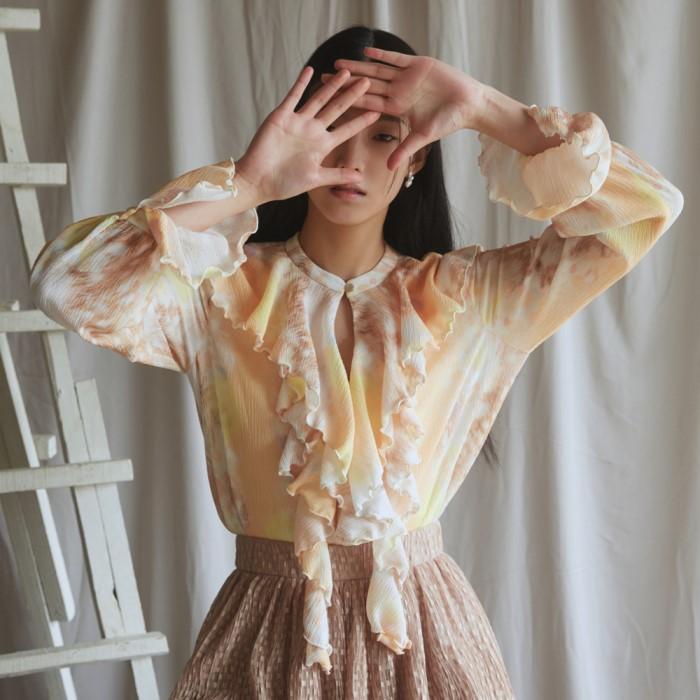 [블리다] bambi frill blouse