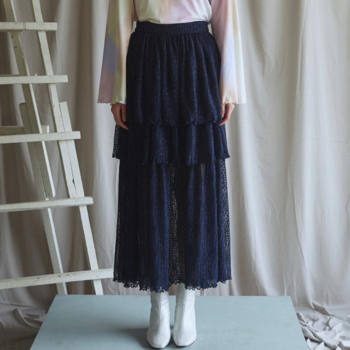 [블리다] navy layerd skirt