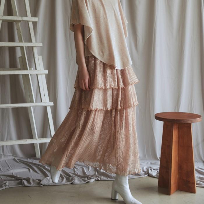 [블리다] sandy layerd skirt